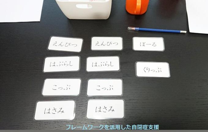 6.準備した物を単語カードにする