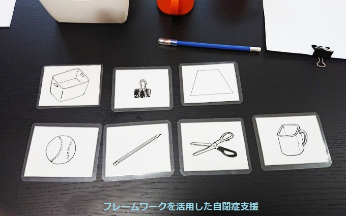 4.物の写真を絵を描きカードにする